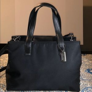 Coach Black Fabric with Leather Accents Shoulder